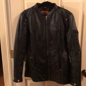 First Classics Leather Motorcycle Jacket- EUC